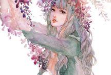 ❤Girls❤ / female/feminine character inspiration ;3;