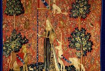 Medieval wall tapestry
