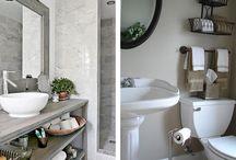 Make a small bathroom look bigger / Bathroom