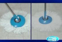 Hurricane Spin Mop / With Hurricane Mop, you'll never have to touch a dirty mop or bend over to clean again! Easily reaches to pick up dirt & then spins it away!