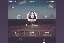 Mobile Design) Layout - Profile