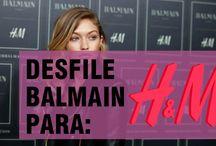 Desfile Balmain para H&M