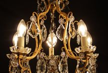 Antique French Chandeliers / Antique french chandeliers currently on lit display in our showroom