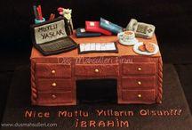 office desk cakes