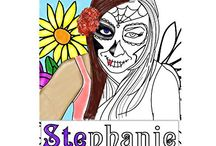 Auntie V.'s Coloring Books / V. Pereira . is a publisher of 'Auntie V.'s Faces of Dia de los Muertos', the first in a series of a new line of Coloring Books for Adults. Available at Amazon.  http://www.amazon.com/dp/1522735135/