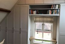 Angled Ceiling Fitted Oak Wardrobe with Bespoke Shelving