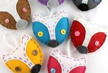 Christmas felt ornaments / Felt ornaments for Christmas decorations... Handmade touch.  / by BlissfulPatterns