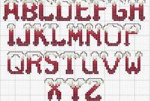 Alphabet-point de croix-cross stitch / mes créations sur Blog : http://broderiemimie44.canalblog.com/ point de croix - cross stitch - broderie - embroidery