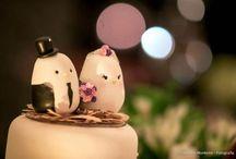 Topos de bolo de casamento / Uma pasta com muitas inspirações para topos de bolos de casamento.