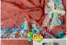 Pashmina Chiffon Motif / Pashmina dengan bahan Chiffon