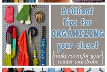organize ur stuff / when you've lots of stuff and can't make room for it by cleaning it up, some lifehacks for closet