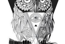 owls n posters