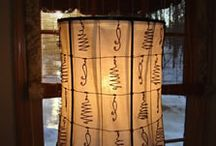 Hand Crafted Lampshades / Lampshades made with various materials and metals.