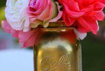 Love masonjars / Amo el toque femenino que puede dar a nuestro espacio un mason jar o cualquier tipo de frasco