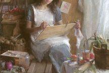 Morgan waistling painting