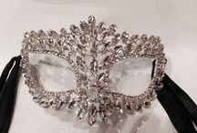 Mardi Gras mask / Hand made Masks for Halloween, Masked balls, Weddings and Prom.