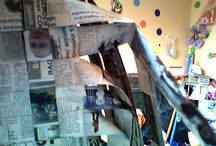 maria leiva cortez / reciclando papel periodico