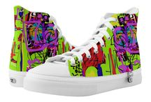 shoes with my original art for sale