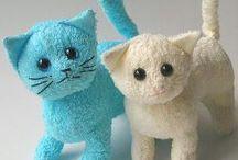 gatinhos de toalha