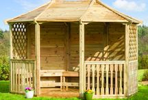 Open sided Timber Gazebos / A selection of open sided timber gazebo's from the Garden Buildings Centre