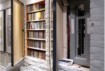 hidden shelves and rooms