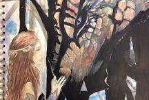 Excelsior Academy GCSE Artwork / Excelsior Academy's talented students' artwork