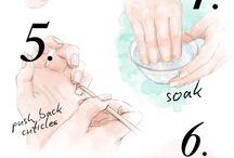 Cuticles and nails