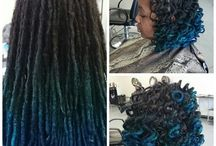 Blue Natural Hair / a part of our color me naturale series featuring pretty shades of blue colored natural hair.