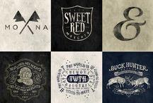 Handdrawn logos