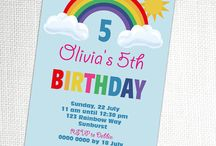 Rainbow Party Ideas / Rainbow inspired and colored themed party ideas with supplies, printables, decorations and DIY for birthdays, showers, baby showers, school events, holidays, weddings or parties
