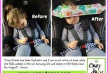 děti spaní v autě