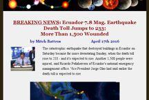 Major World Wide Earthquakes / Recent Earthquakes Measuring Magnitude 6.0 or Higher