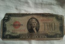 Old money, bills and coins