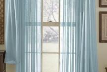 Voile curtain blind pelmet
