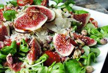 Salades / Salade met vijg en rosbief
