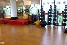 California Fitness & Yoga Center / Một số hình ảnh và clip thi công sàn gỗ tre Bamboo'Ali tại California Fitness & Yoga Center