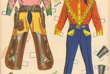 Vintage Cowgirl paperdolls