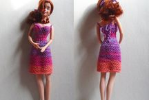 Crochet Barbie dresses / Self-made crochet Barbie dresses