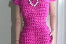 vestidos de barby a crochet