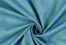 Patchwork fabric - blues / greens / Patchwork design and fabric ideas