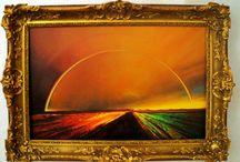 Nelu Gradeanu,pictor / pictură in ulei pe pânză