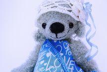 Мои мишки тэдди / Artist teddy toys from my soul, crochet teddy