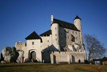 Bobolice / odrestaurowany zamek Bobolice woj. śląskie, Polska