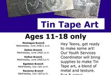 Make It @MADL - Tin Tape Art / TEEN Tin Tape Art @ MADL SHARE the fun with all your friends! Click http://madl.org/index.php/locations.html for branch locations.