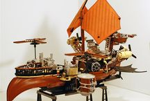 Steampunk Ships / Steampunk ship art and models / by David Belsham