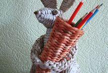 газетное плетение