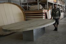 Selfies... with my tables / Theses tables are some manifesations of my interior world. David Jushpe