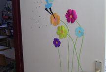 Classroom decoration: spring