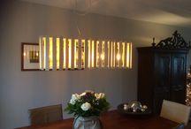 Lampen / Houten lampenkap