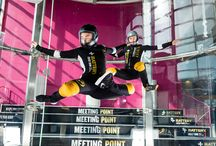 """Wind tunnel pro flying Pro indoor skydiving / Sirius Sport vertical re-circulating wind tunnel has 14.1"""" diameter, 20meters high flying chamber 9m out of which is round glass. Comfortable head down flying speeds 280km/h. proflyers@siriussport.fi"""